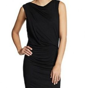 HELMUT LANG Ruched Crossover Jersey Dress